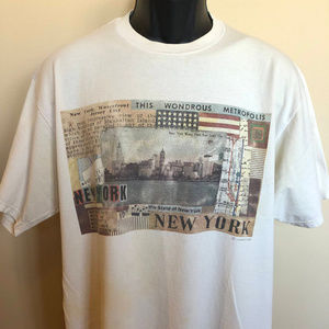 80s New York City Skyline Shirt Broadway NYC Map